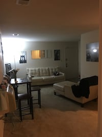 Beautiful Cream Colored Leather Couch & Chase Set  Baltimore