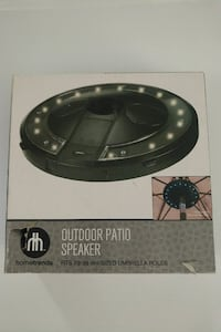 Bluetooth patio light with speakers