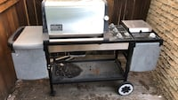 black and gray Weber gas grill Mississauga