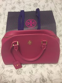 Red leather torry burch tote bag Toronto, M6N 3P1