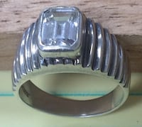 silver-colored clear gemstone ring Roanoke, 24012