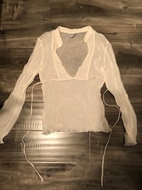 Guess Blouse - Sheer White with Sparkle