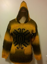 black and yellow pullover hoodie