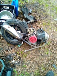 50cc gy6 motor wheel, and belt drive.