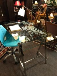 Etched Travel Glass Top Desk Tulsa, 74105