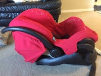 baby's red and black car seat carrier London, N6H