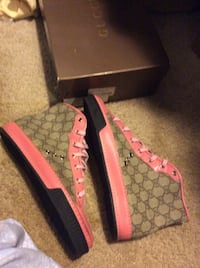 Women's Gucci Brown & Pink Hightop Footwear Kensington, 20895