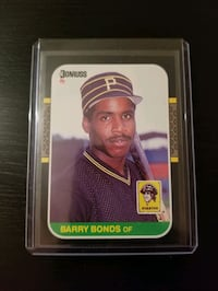 Barry Bonds Rookie Card - Free Shipping