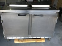 Two well SS. commercial  2 door refrigerator with cutting board fridge