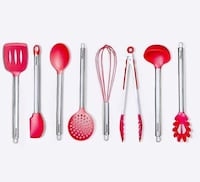 five pink and red makeup brush set Нью-Йорк, 11210