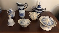 white-and-blue ceramic tea set Bethesda, 20816