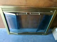 Glass Fyre brass fireplace cover retail price:$740 San Leandro, 94577
