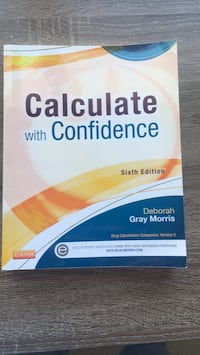 Nursing  Calculate With Confidence 6th ed Sterling, 20166