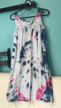 tie-dyed white, blue, and pink tank dress Toronto, M6L 1L1