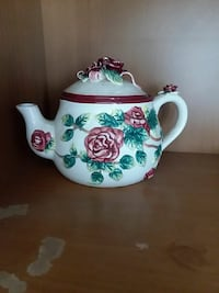 white, green, and red floral ceramic teapot Pensacola, 32534