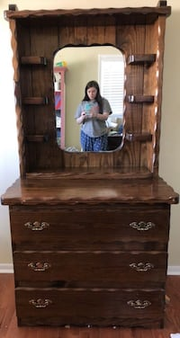 Solid wood dresser with mirror Meridian, 83646