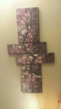 Grey and pink floral painting in excellent conditi Toronto, M3A 2G6