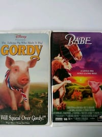 Gordy and Babe vhs tapes