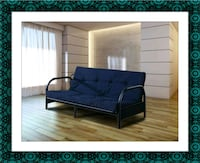 Black futon frame free mattress and delivery 53 km