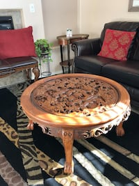 Japanese vintage heavy wooden table