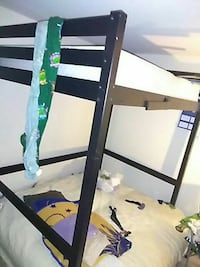 white and black metal bunk bed Suitland-Silver Hill, 20746