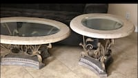 MARBLE COFFEE TABLE & END TABLES SET