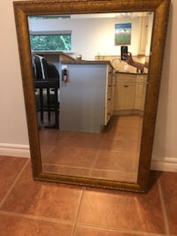 Good framed mirror few little circles are gone could be covered with bronze/gold marker  Surrey, V3X