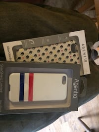 white, red, and blue Agenta iPhone case