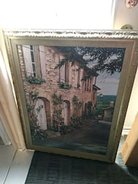 brown wooden framed painting of trees Mississauga, L5B 1C7