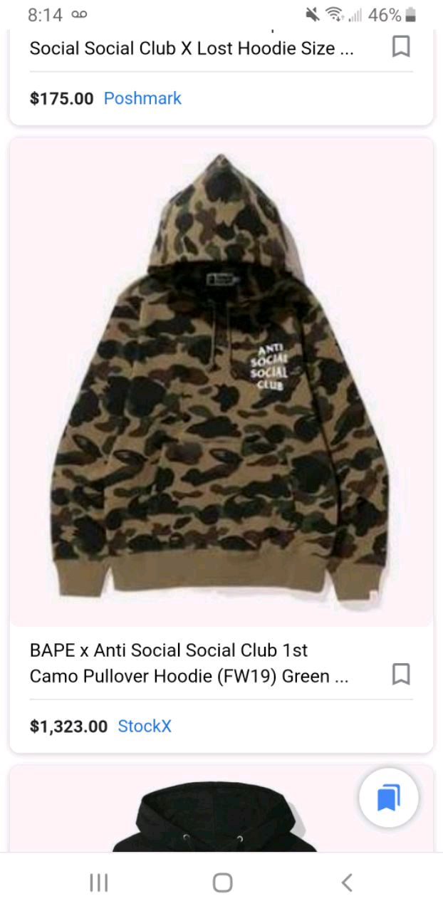 DS Anti Social Social Club ASSC x BT21 Logo Blended Black Hoodie Bape Supreme