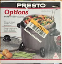 Presto Options Electric Multi-Cooker / Steamer. BRAND NEW IN BOX NEVER USED. See my other offers Stockton, 95209