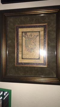 brown wooden framed painting of flowers Brentwood, 94513