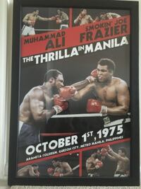 "Ali vs Frazier ""The Thriller in Manila"" Framed Collectible Poster ALEXANDRIA"