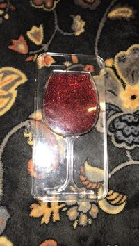red and clear glass bottle Apache, 73006