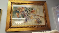 brown wooden framed grapes painting 161 mi