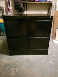 2  -  Black Filing or File Cabinets - Size = 15x30