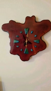 Tree stump slab clock