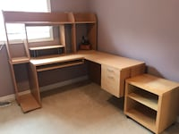 Large corner desk MUST DISASSEMBLE ON YOUR OWN  Mississauga, L5W 1Z7