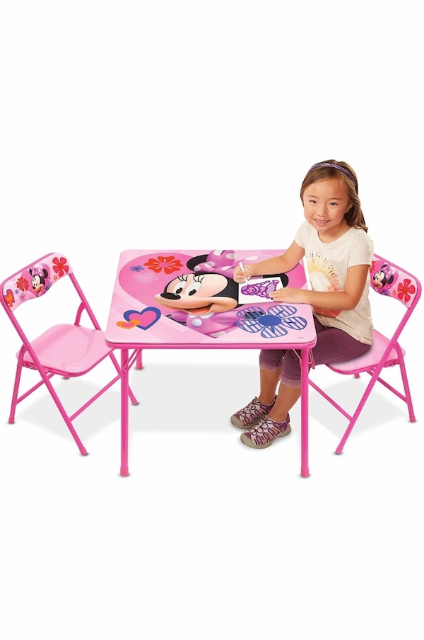 Tremendous Minnie Mouse Toddler Table And Chairs Customarchery Wood Chair Design Ideas Customarcherynet