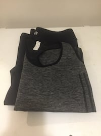 Capris / work out pans and top both size M , Capri has two side Splits Toronto