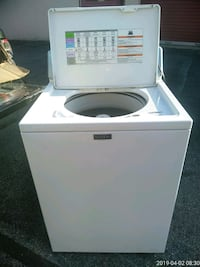 white and black front load washing machine Silver Spring, 20906