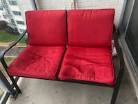 Two set red fabric padded chairs + table Silver Spring, 20910