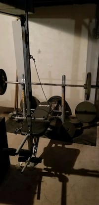 Body Champ Weight Bench & Bowflew Power Rod Machine