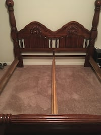 brown wooden bed frame and brown wooden headboard Columbus, 31904