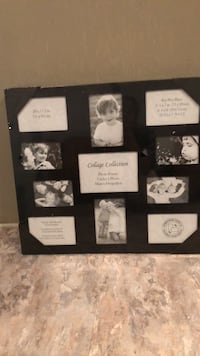 black wooden photo collage frame Chantilly, 20151