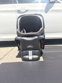 Baby's black britax travel system