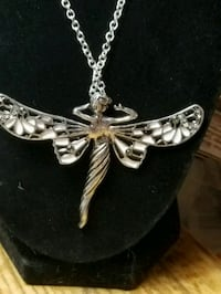 RETRO ANGEL/DRAGONFLY BLK & WHITE WINGS W/CRYSTALS Pompano Beach, 33060