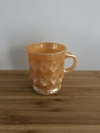 Vintage Fire King Peach Lustre Mug Kingston, K7M