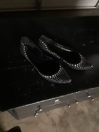 pair of studded black suede flats Stockton, 95207