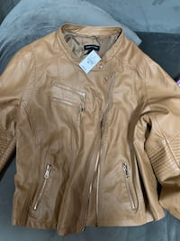 PLUS SIZE 24 Beige Biker Jacket
